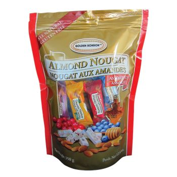 Golden Bonbon Bag Assorted Nougat 350g