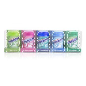 Mentos Fresh Gum 5 Mini Bottles 5x20g