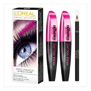 L'Oréal Paris Duo Mega Volume Miss Manga 2x8.5ml + 1.2g