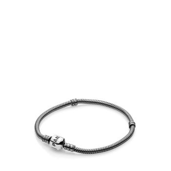 Pandora Moments Charm Bracelet Oxidised Sterling Silver | Duty Free Buenos  Aires Airport Shops